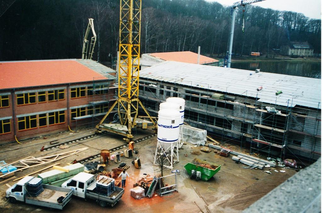 Das Schulgebäude wächst