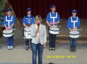 Eröffnung des Talentefestes durch die Schulleiterin Frau Schwenn