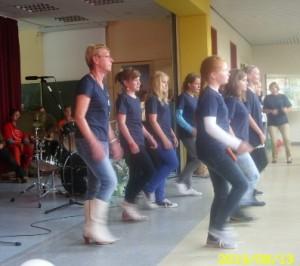 Schulfest-Linedancer