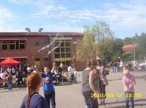 Schulfest-Seifenblasen